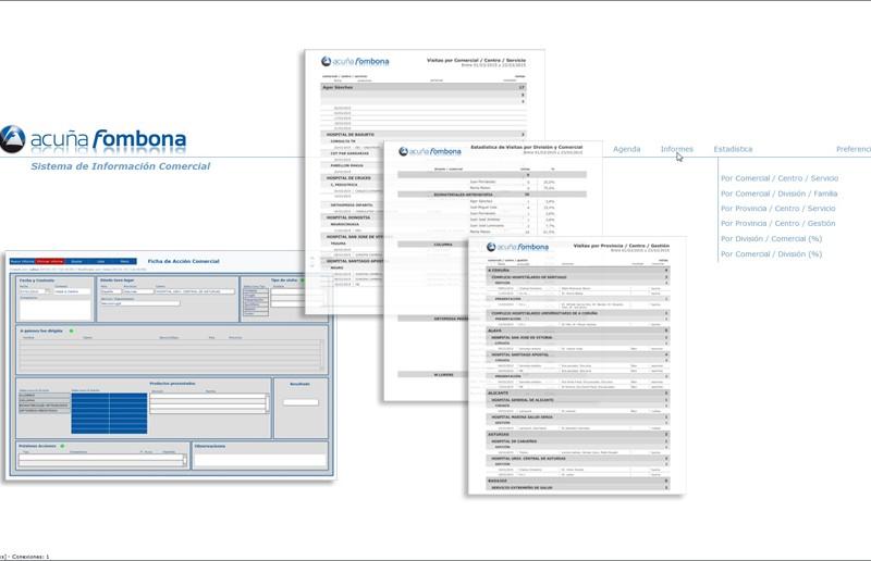 Sistema de gestión de informes comerciales | Acuña y Fombona