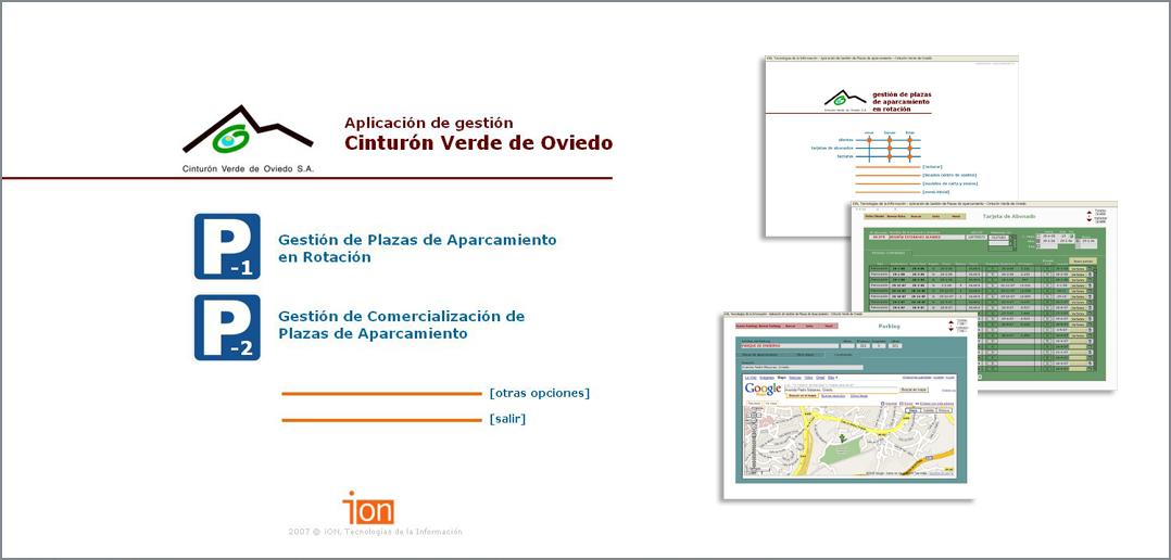 Aplicación de Gestión de Plazas de Aparcamiento | Cinturon Verde de Oviedo