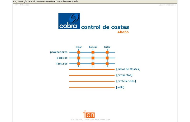 Aplicación de Control de Costes | Cobra Instalaciones y Servicios