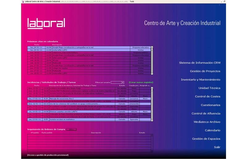 Sistema de Información | Laboral Centro de Arte y Creación Industrial