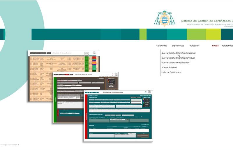 Aplicación de gestión de certificados de docencia | Universidad de Oviedo