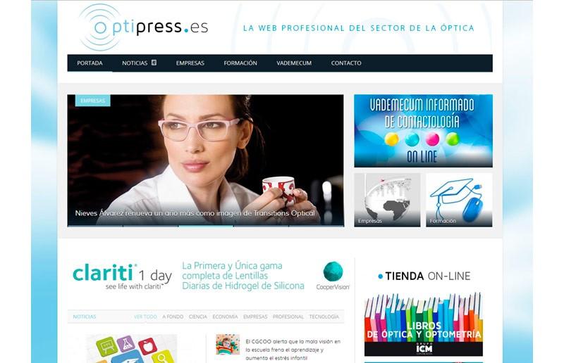 Sitio Web Optipress y Vademecum Informado de Contactología | Grupo ICM de Comunicación