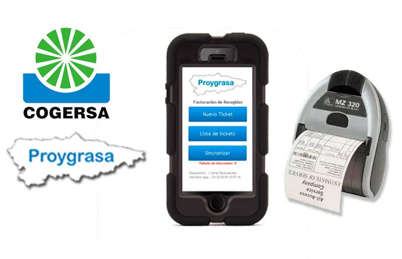 Sistema de facturación en dispositivos móviles | Proygrasa S.A.