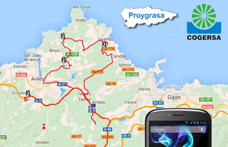 Aplicación para el seguimiento de la flota de camiones | Proygrasa S.A.
